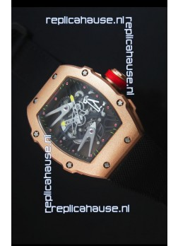 Richard Mille RM027 Tourbillon Rafael Nadal Edition Swiss Watch in Rose Gold Case