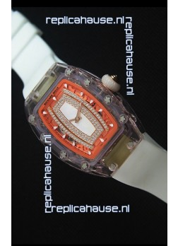 Richard Mille RM07-02 Sapphir Ladies Swiss Replica Watch in White Pearl Dial