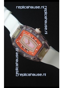 Richard Mille RM07-02 Sapphir Ladies Swiss Replica Watch in Pink Pearl Dial
