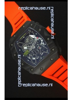 Richard Mille RM035-2 Rafael Nadal Forged Carbon Case with Red Rubber Strap