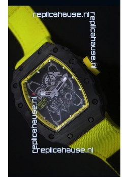 Richard Mille RM35-01 Rafael Nadal Edition Swiss Replica Watch Yellow Nylon Strap
