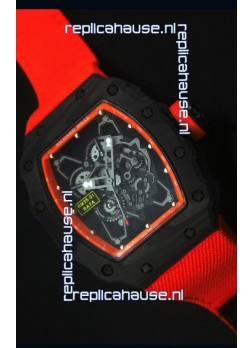 Richard Mille RM35-01 Rafael Nadal Edition Swiss Replica Watch Orange Nylon Strap