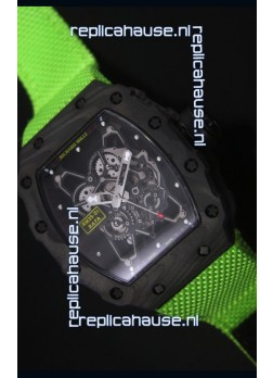 Richard Mille RM35-01 Rafael Nadal Edition Swiss Replica Watch Green Nylon Strap