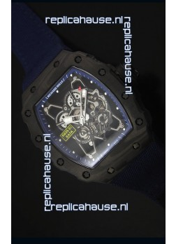 Richard Mille RM35-01 Rafael Nadal Edition Swiss Replica Watch Navy Blue Nylon Strap