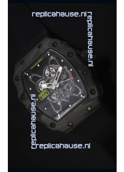 Richard Mille RM35-01 Rafael Nadal Edition Swiss Replica Watch Black Nylon Strap