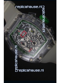 Richard Mille RM056-1 Tourbillon Felipe Massa Chronograh Green Bezel Watch