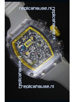 Richard Mille RM056-1 Tourbillon Felipe Massa Chronograh Yellow Bezel Watch
