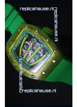 Richard Mille RM059 Yohan Blake Edition Swiss Replica Watch in Green Bezel