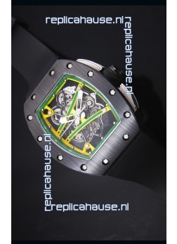 Richard Mille RM061 Ceramic Case Swiss Yellow/Green Bezel Replica Watch