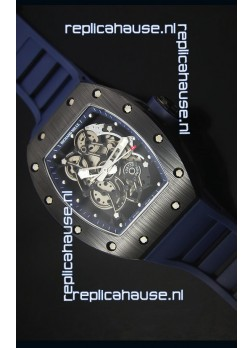 Richard Mille RM055 Ceramic Case Watch in Blue Inner Bezel