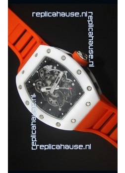 Richard Mille RM055 White Ceramic Case Watch in Black Inner Bezel