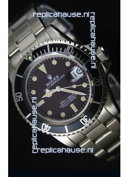 Rolex Submariner 1680 Vintage Edition Coffee Dial Japanese Movement Watch