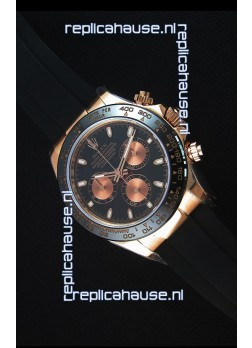 Rolex Daytona 116515 Everose 1:1 Mirror Replica Black Dial Watch