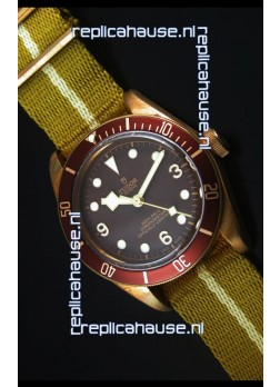 Tudor Heritage Bay Bronze Swiss Replica Watch with NATO Strap