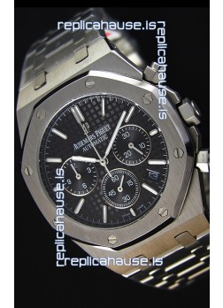 Audemars Piguet Royal Oak Chronograph Black Dial Swiss Quartz Replica Watch  - 41MM