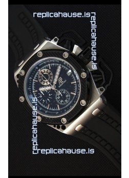 Audemars Piguet Royal Oak Survivor Chronograph Swiss Quartz Watch in Black Dial