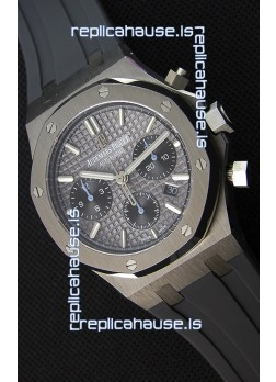 Audemars Piguet Royal Oak Chronograph Slate Grey Dial Rubber Strap Swiss Replica Watch