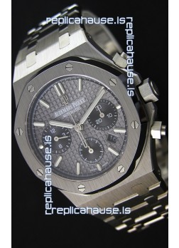 Audemars Piguet Royal Oak Chronograph Slate Grey Dial Steel Strap Swiss Replica Watch