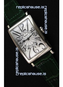 Franck Muller Long Island Ladies Replica Watch in Swiss Quartz Movement Green Strap