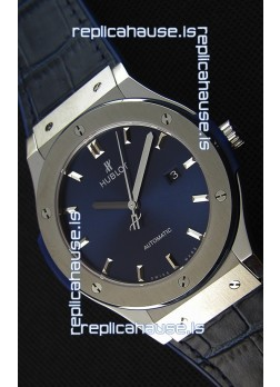 Hublot Classic Fusion Blue Titanium Swiss Replica Watch - 1:1 Mirror Replica