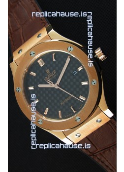Hublot Classic Fusion King Gold Swiss Replica Watch - 1:1 Mirror Replica