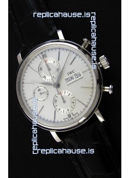 IWC Portofino Chronograph IW391007 White Dial 1:1 Mirror Replica Watch