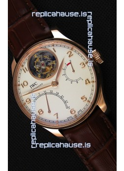 IWC Portugieser Tourbillon Mystere Retrograde IW504402 Pink Gold UPDATED 2019 Version