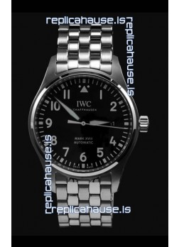 IWC MARK XVIII Swiss Replica Watch in 904L Steel Black Dial 40MM - 1:1 Mirror Replica