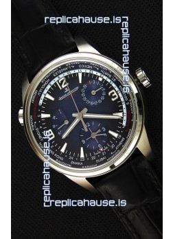 Jaeger-LeCoultre Polaris Geographic Steel Case Swiss Replica Watch - 904847J