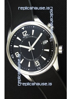 Jaeger-LeCoultre Polaris Black Dial Watch with Nylon Strap 1:1 Mirror Replica