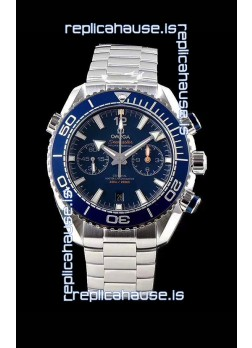 Omega Planet Ocean 600M Chronograph 904L Steel Blue Dial 1:1 Mirror Replica Watch