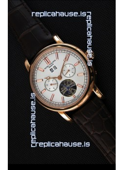 Patek Philippe Japanese Tourbillon Replica Watch in Pink Gold Case