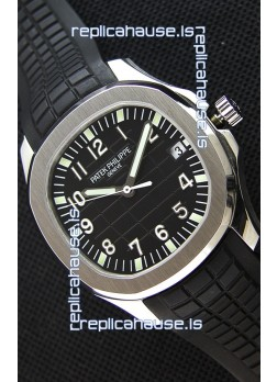 Patek Philippe Aquanaut 5167A-001 Swiss Replica Watch Black Dial - 1:1 Mirror Edition