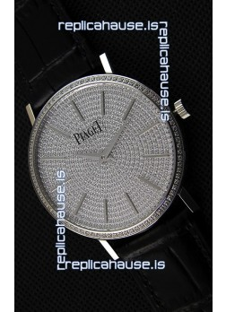 Piaget Altiplano G0A36128 Paved Diam Dial Swiss Quartz Replica Watch in Steel Case