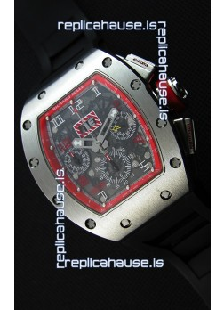 Richard Mille RM011-FM Felipe Massa One Piece Titanium Case Watch in Black Strap