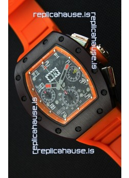 Richard Mille RM011-FM Felipe Massa One Piece Ceramic Case Watch in Orange Strap