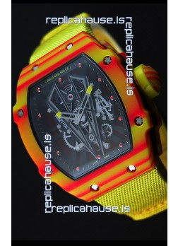 Richard Mille 27-03 Tourbillon Rafael Nadal Forged Carbon Swiss Replica Watch