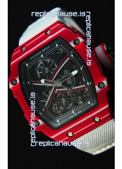 Richard Mille 67-02 Mutaz Barshim Forged Carbon Swiss Replica Watch