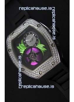 Richard Mille 19-02 Tourbillon Fleur Swiss Replica Watch in Stainless Steel