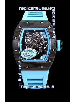Richard Mille RM055 Blue Legend Carbon Casing Swiss Replica Watch