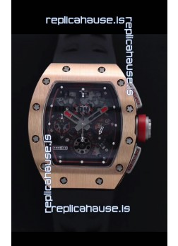 Richard Mille RM011-FM Felipe Massa Rose Gold Casing Swiss Replica Watch