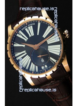 Roger Dubuis Excalibur RDDBEX0587 Pink Gold Grey Dial Swiss Replica Watch