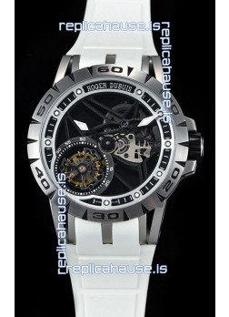 Roger Dubuis Excalibur Spider Flying Tourbillon Skeleton Titanium Casing 1:1 Mirror Swiss Watch