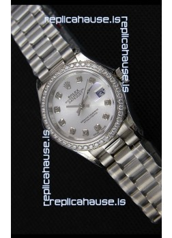 Rolex Datejust Ladies Diamonds Markers Swiss Watch CAL.2236 Movement 1:1 Mirror Replica