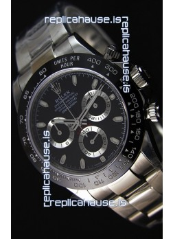Rolex Cosmograph Daytona 116500LN Black Dial Original Cal.4130 Movement - Ultimate 904L Steel Watch