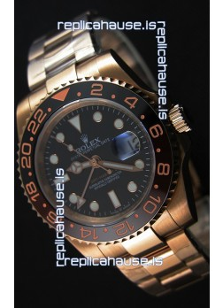 Rolex GMT Masters II 126715CHNR Everose Gold Swiss Replica 1:1 Mirror Watch