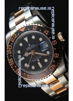 Rolex GMT Masters II 126711CHNR Everose Gold Oyster Steel Swiss Replica 1:1 Mirror Watch