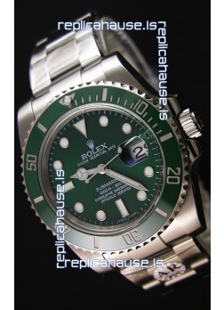 Rolex Submariner Ref#116610LV The Hulk Swiss Replica 1:1 Mirror - Ultimate 904L Steel Watch