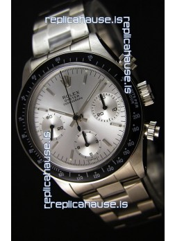 Rolex Daytona Vintage Steel Dial Swiss Replica Watch - 904L Steel Watch