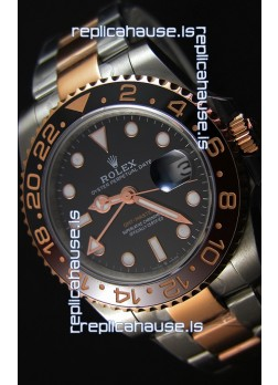 Rolex GMT Masters II 126711CHNR Two Tone Rose Gold Swiss Replica -  Ultimate 904L Steel Watch